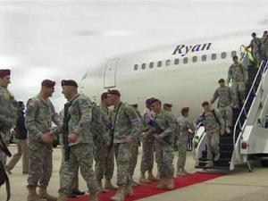 Nearly 150 soldiers of the 3rd Battalion of the 82nd Airborne's Combat Aviation Brigade returned home on March 16, 2010.