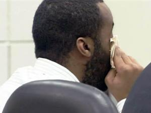 Abdullah Shareef wipes tears from his eyes on March 18, 2010, as his wife reads letters in court from his children and pleads with jurors to spare his life. Shareef was convicted of a 2004 hit-and-run rampage that killed one man and injured four others.