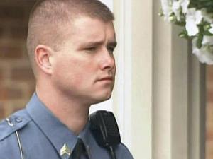 Cpl. Justin Garner was the only police officer to respond to a shooting at Pinelake Health and Rehabiliation Center on Sunday, March 29, 2009. He is credited for ending the shooting rampage, in which eight people were killed.