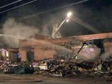 Fire ravages Maxton poultry plant