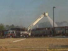 Building Blocks, a day care under construction at 55 Hawkesburg Drive in Clayton, caught fire early Monday, April 5, 2010.
