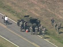Sky 5 view as National Guard searches