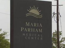 Sign for Maria Parham Medical Center in Henderson