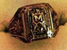 Molly Walker's Fort Myer's High class ring from 1956.