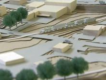 Model of proposed Union Station in downtown Raleigh