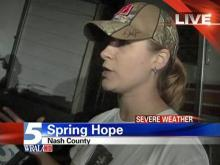 Spring Hope woman describes storm damage
