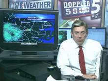 WRAL's Greg Fishel retracts the path of Sunday's storm