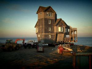 """The house made famous in the """"Nights in Rodanthe"""" movie is safe from the ocean after being moved seven tenths of a mile."""