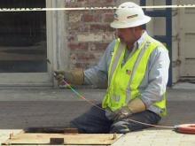 Crews repair underground power line in Fayetteville