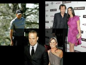 "Celebrities like Tiger Woods, David Duchovny and Jesse James have recently been accused of cheating on their wives and of being ""sex addicts."""