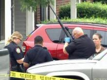Police were on the scene of a shooting death at a home in the 1100 block of Quail Meadow Drive in Fayetteville on May 18, 2010.