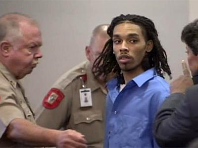 Demario James Atwater is escorted from an Orange County courtroom May 24, 2010, after pleading guilty to first-degree murder and several other charges in the March 5, 2008, shooting death of Eve Carson.