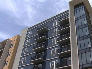 The Hue, a 200-unit condominium complex in downtown Raleigh, closed in May 2010 after not selling any units.