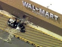 Sky 5 video of Dunn Walmart wreck