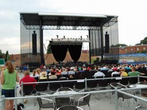 The Raleigh Amphitheater on opening day, June 4, 2010.