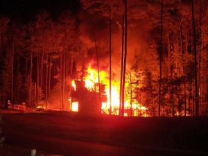 WRAL viewer Jack Tiger shared this photo of a house on Saint Emilion Court in Apex on fire early Sunday, June 6, 2010.