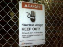 Two people were badly burned after they touched high-voltage equipment at a transformer substation off Tryon Road.