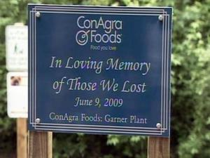 A memorial plaque was unveiled publicly in Garner's White Deer Park Greenway on Wednesday, June 9, 2010, in honor of four people killed from an explosion at the Slim Jim plant in Garner a year ago.
