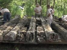 Archaeologists study 400-year-old ship
