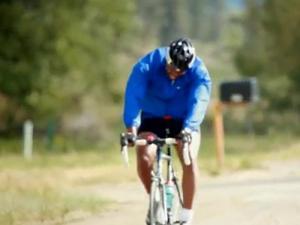 Henry McKoy on the bike