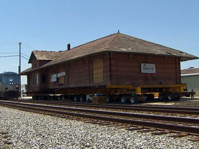 The Elm City railroad depot