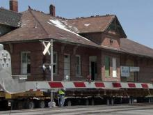 Crews move Elm City train station