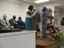 Members of the Solid Rock First Haitian Tabernacle of Grace in Raleigh worship on Sunday, June 20, 2010.