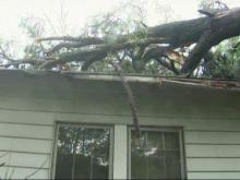 Tree crashes into Durham home