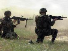Firing range generic, soldiers firing guns