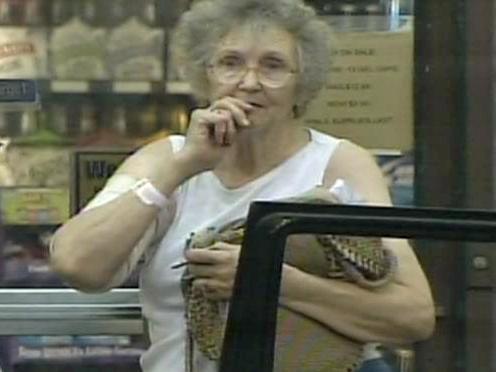 Store clerk Grace Kelly