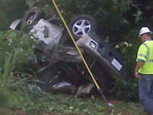 Four men died in a wreck on Rock Service Station Road near Garner on July 1, 2010.