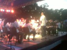 The 82nd Airborne Division band performed with borrowed instruments July 4, 2010, at Fort Bragg.