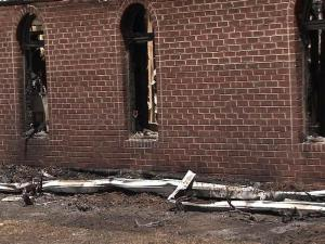 A July 3, 2010, fire gutted the sanctuary and fellowship hall at Hyco Zion Baptist Church, north of Roxboro.