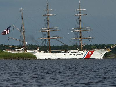 he U.S. Coast Guard's tall ship, the Eagle