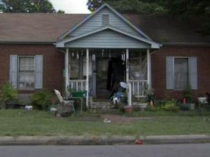 Five adults living in a trash-strewn house near downtown Raeford were charged with drug offenses on Aug. 5, 2010, and police turned an infant and a 6-year-old found inside the house over to DSS.