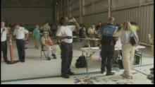 First responders battle heat during RDU exercise