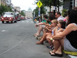 The North Carolina Firefighters Association held the Main Street Fire Truck Parade in downtown Raleigh on Saturday, August 14, 2010.  (Photo courtesy of Mike Legeros)