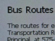Parents worried by bus routes on Web