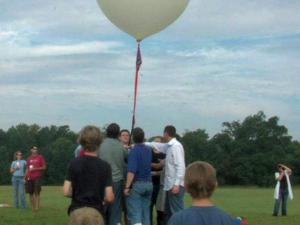 A team of photographers and scientists from the Triangle attempted to send a homemade weather balloon into near-space on Sunday, Aug. 22, 2010, to capture a photo of the Earth's horizon, part of a worldwide contest. The balloon traveled from Wake Forest to Rocky Mount, where it landed in a tree.