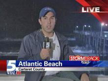Rain, waves whip Atlantic Beach