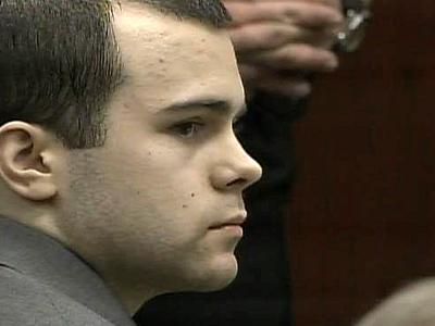 Ryan Patrick Hare, 19, listens as Drew Shaw testifies against him on Sept. 14, 2010, in Hare's murder trial. Hare is accused of devising and carrying out a plan to kill Matthew Silliman, 18.