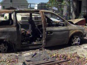 Jessica White DePriest's minivan caught fire along I-95 in Robeson County on Sept. 9, 2010, but a state trooper was able to pull her four young children from the vehicle.