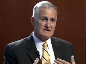 Retired Army Gen. Hugh Shelton discusses his military and business careers during a Sept. 15, 2010, interview.