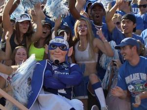 Duke fans cheer during Saturday's game against Alabama.