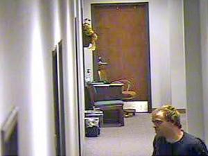 A man broke into the Wayne County courthouse in Goldsboro and stole electronic equipment sometime Friday night or early Saturday, according to the sheriff's office.