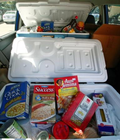Workshop participants donated two large coolers worth of food to the Food Bank of Eastern & Central North Carolina.
