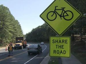 The city of Raleigh, in conjunction with the North Carolina Departments recent resurfacing of Avent Ferry Road, converted a two-mile stretch of the four-lane road into a two-lane road with bicycle lanes on each side.