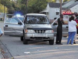 A 3-year-old Henderson girl was recovering at Duke University Medical Center Friday, Oct. 22, 2010, after being struck by this SUV. (Photo courtesy of The Daily Dispatch)