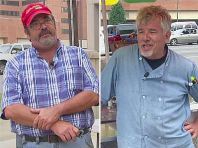 Left to right: David Leeds, owner of Dave's Quickie Dogs, and Steven Pruner, owner of Outlaw Hotdogs