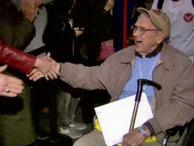 A group of World War II veterans from the Triangle returned home on Nov. 4, 2010, after a day-long visit to the memorial in their honor on the National Mall.